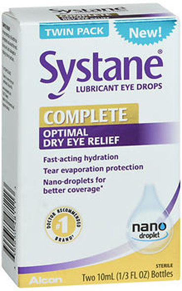 Systane Complete Optimal Dry Eye Relief Lubricant Eye Drops - 20 ml