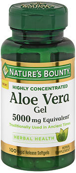Nature's Bounty Aloe Vera Gel 5000 mg Equivalent Rapid Release Softgels - 100 ct
