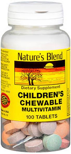 Nature's Blend Children's Chewable Multivitamin - 100 Tablets