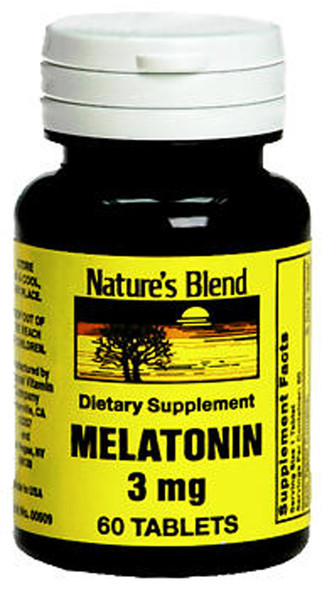 Nature's Blend Melatonin 3 mg Tablets - 60 ct