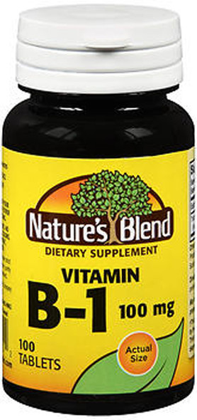 Nature's Blend Vitamin B1 100 mg Tablets - 100 ct