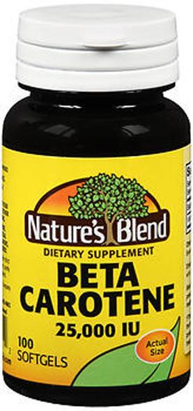 Nature's Blend Beta Carotene 25000 IU - 100 Soft Gels