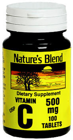 Nature's Blend Vitamin C 500 mg -100 Tablets