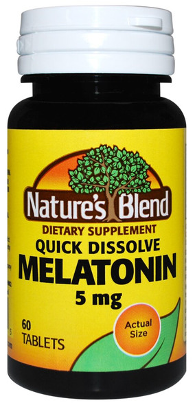 Nature's Blend Melatonin 5 mg - 60 Tablets