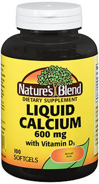 Nature's Blend Liquid Calcium 600 mg with D3 Softgels - 100 ct