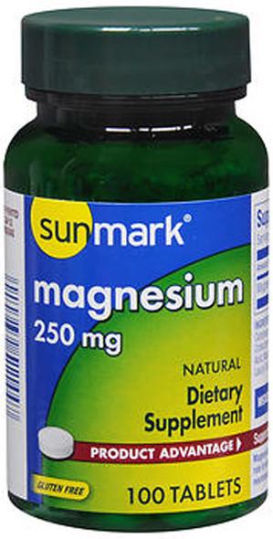 Sunmark Magnesium, 250 mg Tablets - 100 Tablets