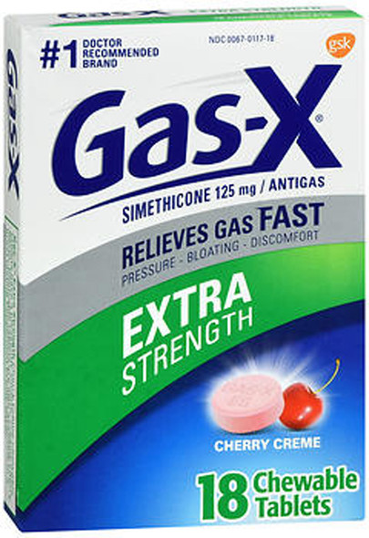 Gas-X Extra Strength Cherry Creme Tablet - 18 ct