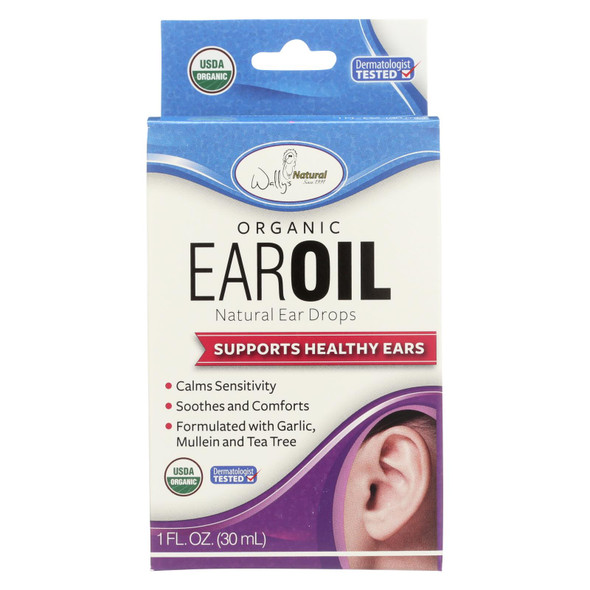Wally's Natural Products Ear Oil - Organic - 1 Fl Oz