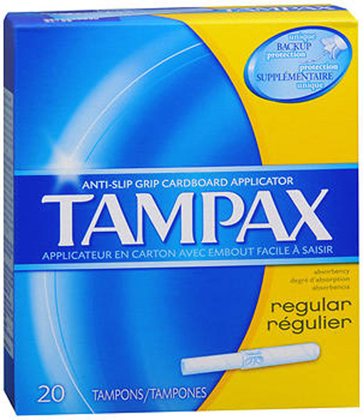 Tampax Flushable Applicator Regular Absorbency Tampons - 20 ea.
