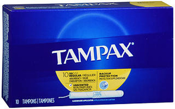 Tampax Tampons Regular Absorbency - 10 ct