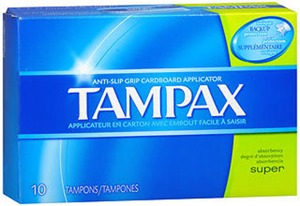 Tampax Flushable Super Tampons - 10 ct
