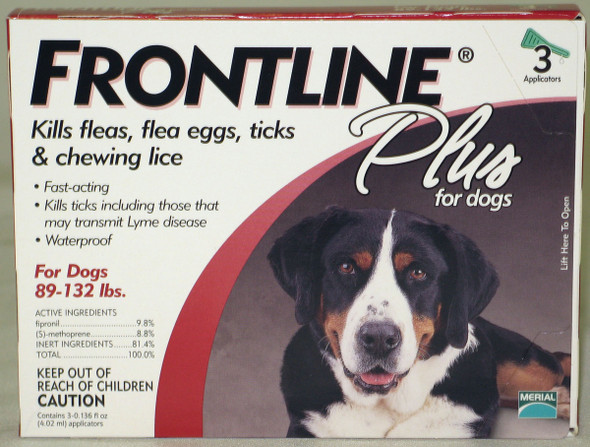 Frontline Plus Dog 88 - 132 Lb/3 Pk