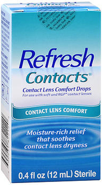Refresh Contacts Contact Lens Comfort Moisture Drops - 0.4 oz