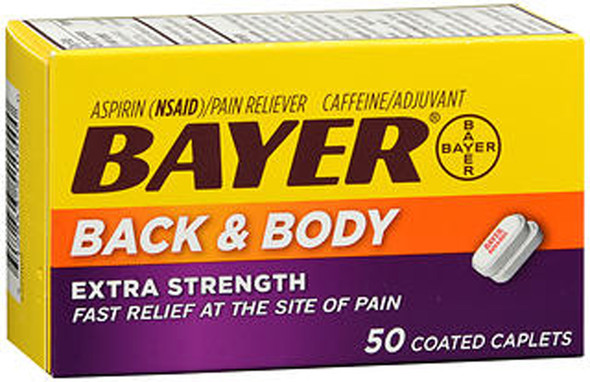 Bayer Back And Body Extra Strength Coated Caplets - 50 ct