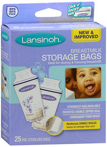 Lansinoh Breastmilk Storage Bags - 25 ct