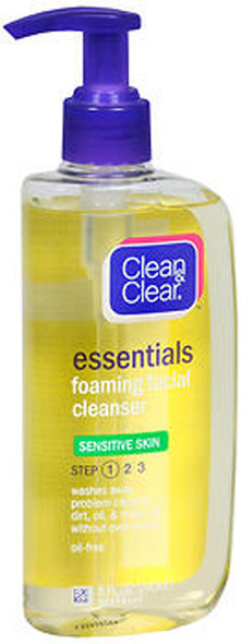 Clean & Clear Essentials Foaming Facial Cleanser Sensitive Skin - 8 fl oz