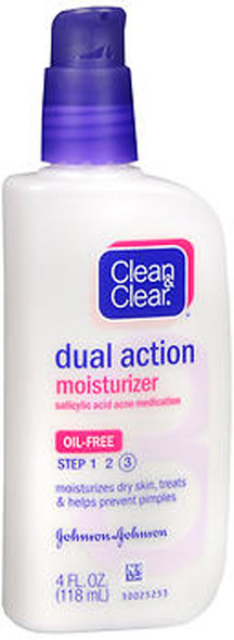 Clean & Clear Dual Action Moisturizer Oil-Free - 4 oz