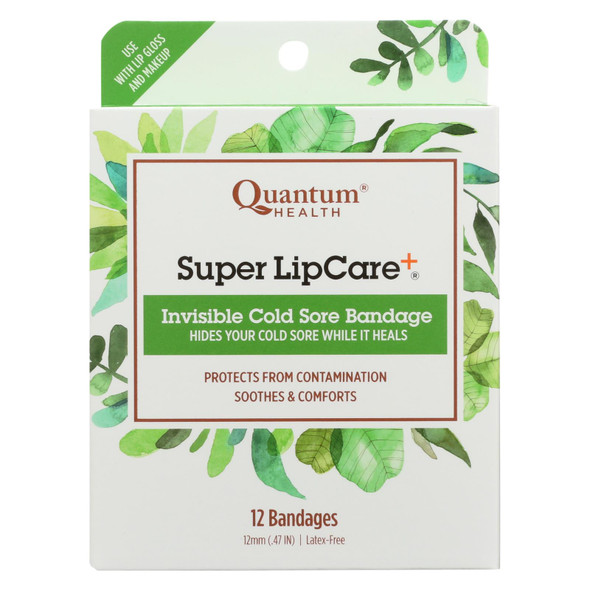 Quantum Research Lipcare Plus Invisible Cold Sore Bandage - 12 Count