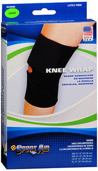 Sport Aid Knee Wrap - Black - Large