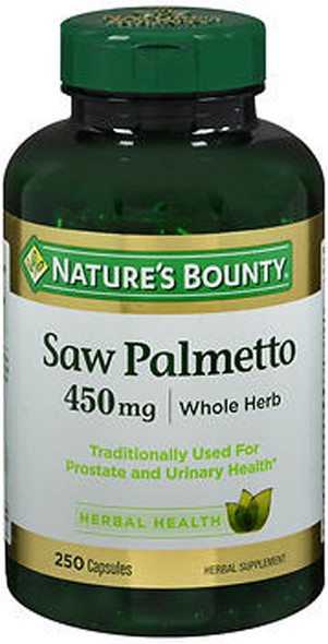 Nature's Bounty Saw Palmetto 450 mg Herbal Supplement Capsules - 250 ct