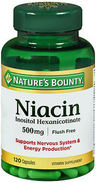 Nature's Bounty Niacin 500 mg Vitamin Supplement Capsules - 120 ct