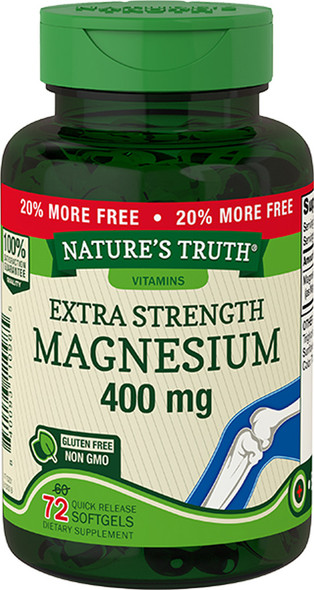 Nature's Truth Magnesium 400 mg Quick Release Softgels - 70 ct