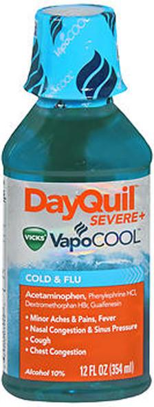 DayQuil Severe+ VapoCool Cold & Flu Liquid - 12 oz