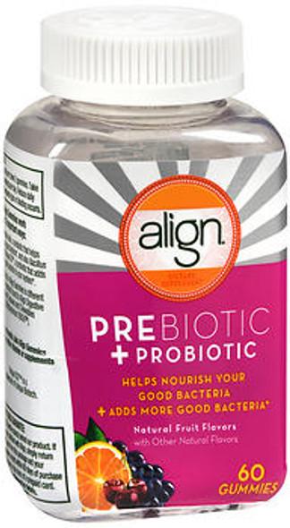 Align Prebiotic + Probiotic Gummies Natural Fruit Flavors - 60 ct