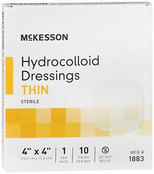 "McKesson Hydrocolloid Dressing Thin 4""x4"" - 10ct"