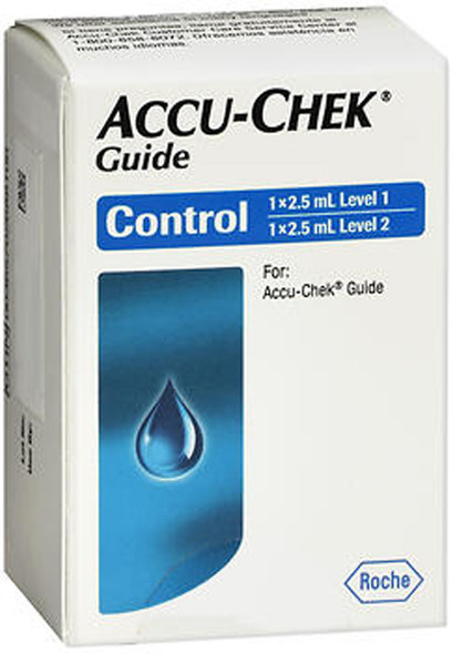 Accu-Chek Guide Control Solutions Level 1 and Level 2  - 2.5 ml each
