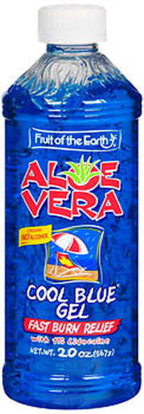 Fruit of the Earth Aloe Vera Cool Blue Gel - 20 oz
