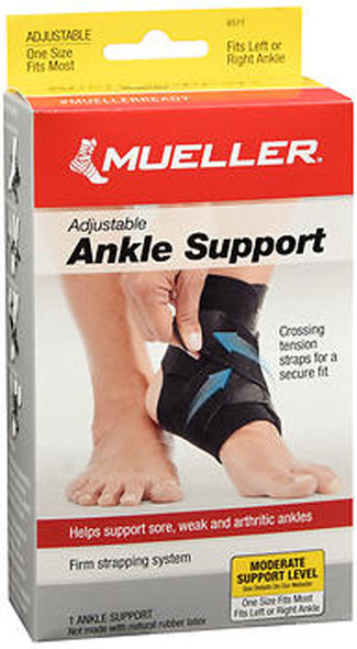 Mueller Adjustable Ankle Support One Size #6511- 1 ea