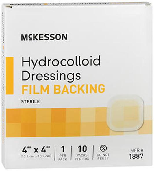 "McKesson Hydrocolloid Dressing Film Backing 4""x4"" - 10ct"