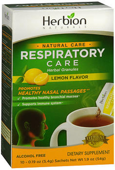 Herbion Naturals Natural Care Respiratory Care Herbal Granules Dietary Supplement Lemon Flavor - 10 pk