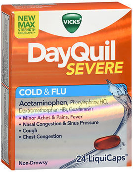 DayQuil Severe Cold & Flu LiquiCaps - 24 Ct.