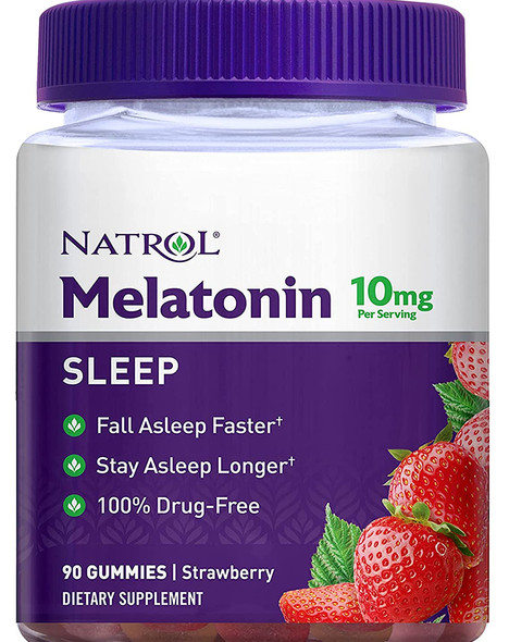 Natrol Melatonin 10 mg Gummies Strawberry - 90 ct