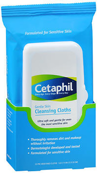 Cetaphil Gentle Skin Cleansing Cloths - 25 ct