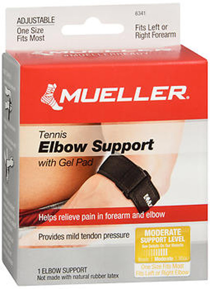 Mueller Sport Care Tennis Elbow Support with Gel Pad One Size #6341 - 1 ea.