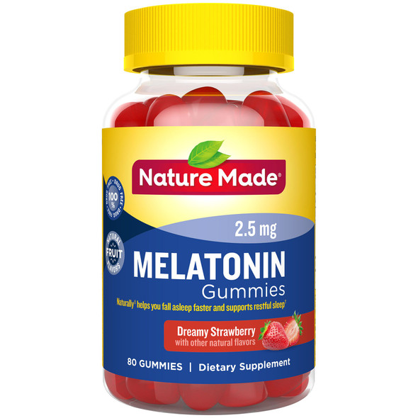 Nature Made Melatonin Adult Gummies Strawberry - 80 ct
