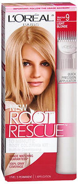 L'Oreal Root Rescue 10 Minute Root Coloring Kit 9 Light Blonde