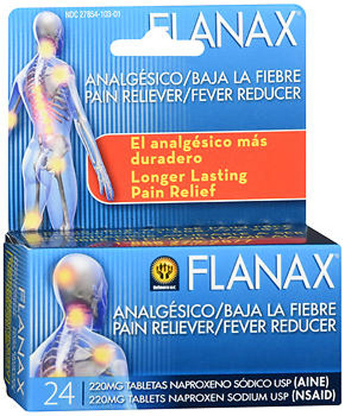 Flanax Pain Reliever/Fever Reducer Tablets - 24 ct