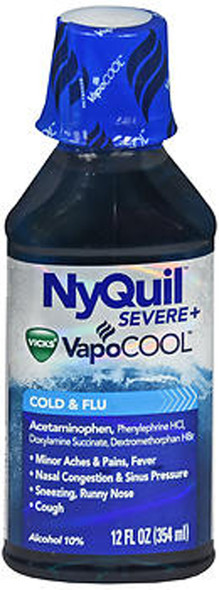 NyQuil Severe+ VapoCool Cold & Flu Liquid - 12 oz