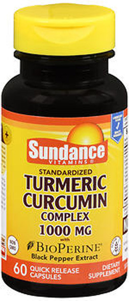 Sundance Vitamins Standardized Turmeric Curcumin Complex 1000 mg Quick Release Capsules - 100 ct