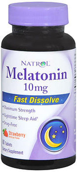 Natrol Melatonin 10 mg Tablets Strawberry Flavor - 60 ct