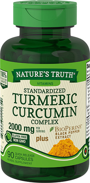 Nature's Truth Standardized Turmeric Curcumin Complex 2000 mg per Serving Capsules - 90 ct