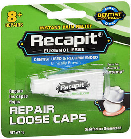 Recapit Loose Cap Dental Repair - 8 Repairs