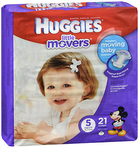 Huggies Little Movers Diapers Size 5 - 4 packs of 19