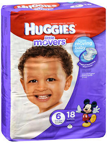 Huggies Little Movers Diapers Size 6 - 4 packs of 16
