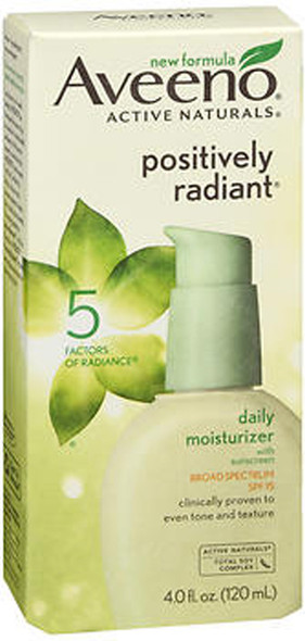 Aveeno Positively Radiant Daily Moisturizer with SPF 15 - 4 oz