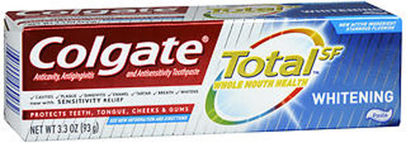 Colgate Total SF Whitening Toothpaste - 3.3 oz